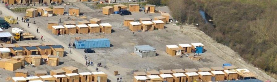 Camp de réfugiés de Grande-Synth dans le Nord de la France