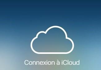 Le logo de iCloud sur la page d'accueil du service