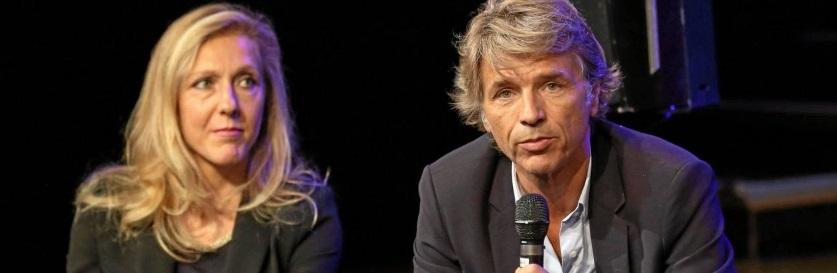 Guy Lagache et Sibyle Veil, dirigeants de Radio France
