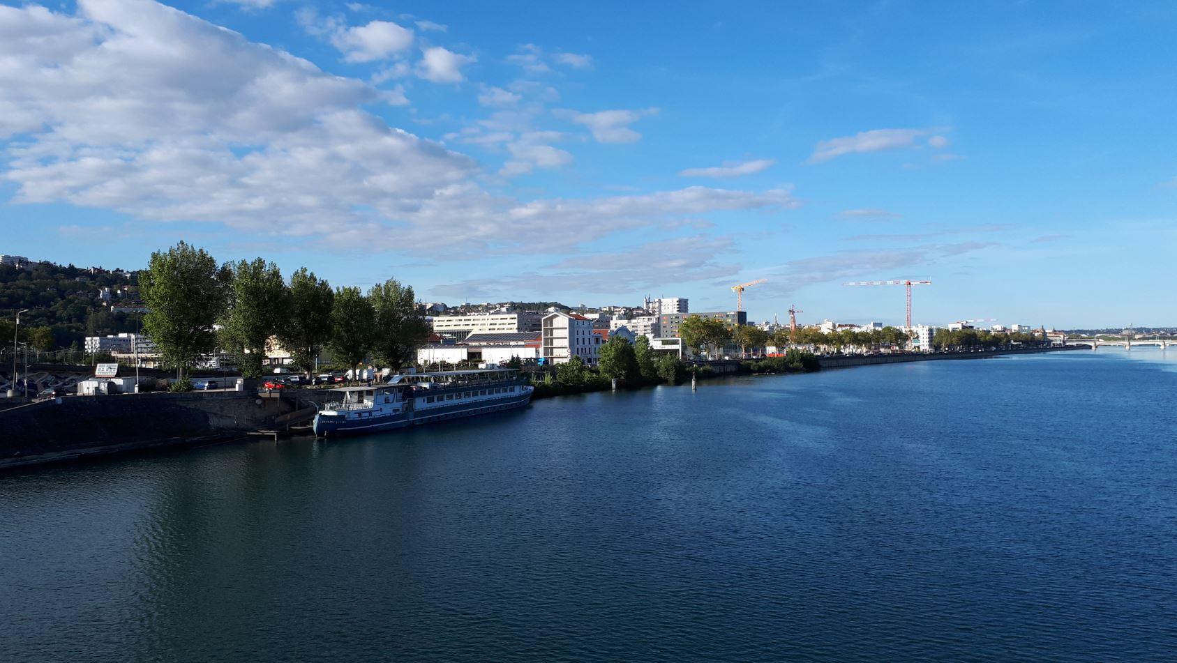 La ville de Lyon et le Rhône