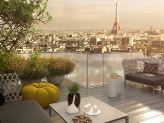 Terrasse d'un appartement à Paris