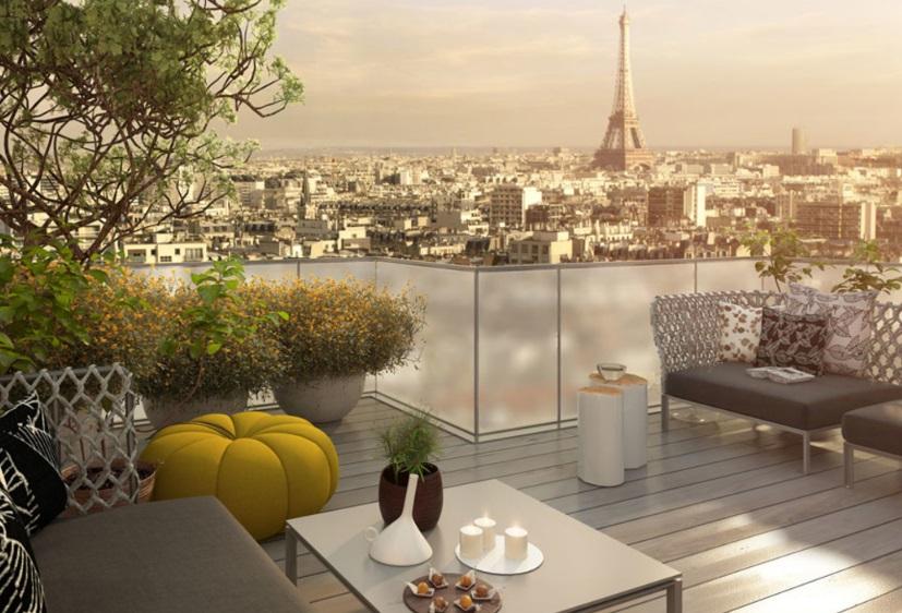 Terrasse d'un appartement à Paris