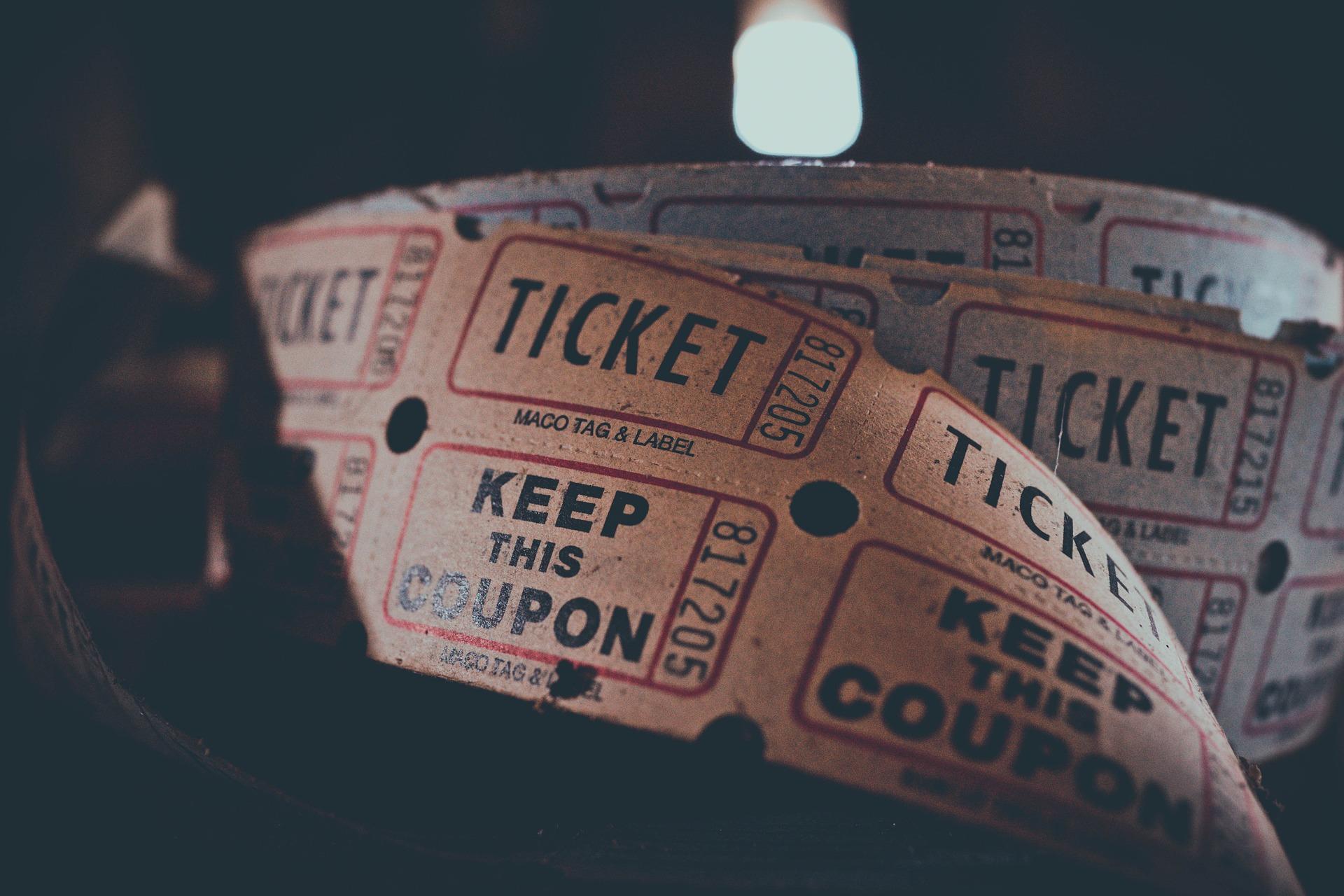 Des tickets de cinéma