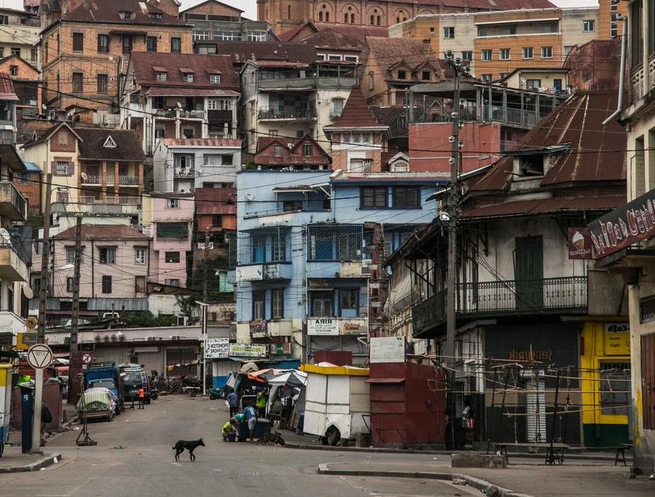 rues de la capitale de madagascar vides